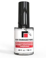 "Восстанавливающее базовое укрепляющее покрытие ""SOS Damaged nails"" 10 мл Milv"