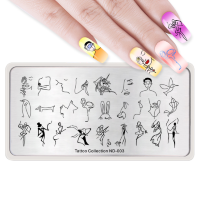 Пластина для стемпинга 12*6 см 43497 ND-003 Tattoo collection Nicole Diary