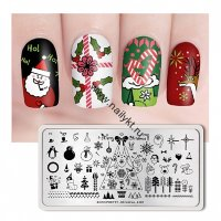 (44311) BP-L001 Пластина для стемпинга 12*6см Christmas Born Pretty