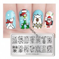 (44312) BP-L002 Пластина для стемпинга 12*6см Christmas Born Pretty