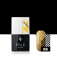 "Гель-лак POLE Brilliant rain №02 ""Gold"" (8мл)"