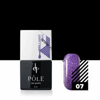 "Гель-лак POLE Brilliant rain №07 ""Violet"" (8мл)"