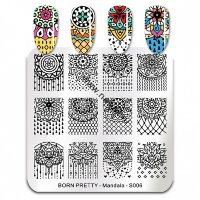(45904) Пластина для стемпинга 6*6 см BP-S006 Mandala Born Pretty